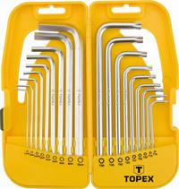 TOPEX IMBUS+TORX SET 18KOS